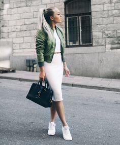 bomber jacket with chic matching set