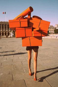 ~hermes orange // Terry Richardson for Vogue Paris~ Private Shopping, Go Shopping, Shopping Spree, Online Shopping, Personal Shopping, Happy Shopping, Window Shopping, Girls Shopping, Hermes Orange
