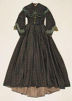Dress (image 1) | American | 1862-1866 | silk | Metropolitan Museum of Art | Accession #: C.I.40.10.2