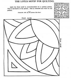 Vintage Hand Quilting Patterns Q is for Quilter Hand Quilting Patterns, Quilting Stencils, Free Motion Quilting, Quilting Designs, Tatting Patterns, Group Art Projects, Collaborative Art Projects, Art Worksheets, Art Curriculum