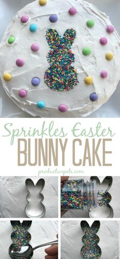 A fun and easy Easter Bunny Cake idea that not only will your kids love but adults will too It s a great Easter Dessert that involves simple decorating skills - using only a cookie cutter easter easterbunny easterbunnycake easterdessert eastercake Easter Deserts, Easter Snacks, Easter Brunch, Easter Treats, Easter Food, Easy Easter Desserts, Easter Baking Ideas, Easy Easter Recipes, Easter Party