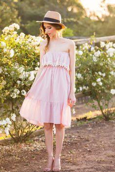 Iris Lavender Strapless Dress – Morning Lavender, hat