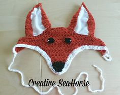 Foxy fox ear bonnet fly veil for your horse or by CreativeSeaHorse,