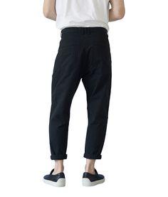 Son of a tailor - Sea Pants, Cropped, Black Drop Crotch, Ss16, Parachute Pants, Menswear, Sweatpants, Collection, Black, Style, Fashion