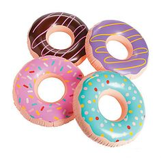 Our Inflatable Donuts are the sweetest party decorations! They are ideal for outdoor decor, Pool Parties or indoor celebrations. They coordinate to perfection with our Donut Plates, Donut Napkins and