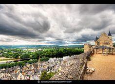 Chinon Castle View Loire HDR