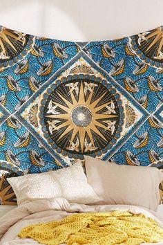 Maret Gold Foil Tapestry