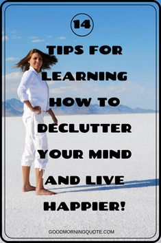 Do you struggle with stress in your life? If so, it may be time to declutter your mind. In this article, we'll give tips and ideas on how to declutter your mind to reduce stress and live without worries. Be inspired! Think Positive Thoughts, Positive Attitude, Motivational Quotes For Success, Positive Quotes, Girl Smile Quotes, Declutter Your Mind, Morning Pages, Live Happy, Love Quotes For Him