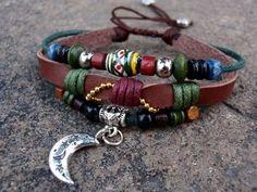 Coriandr / eyongs / Silver Moon Charm Beaded Bracelet