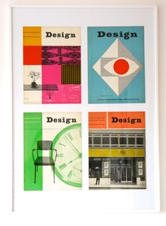 Framed vintage Design covers - Jane Foster Blog