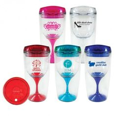 Crown - 8oz. Lola Wine Tumbler. Great for outdoor parties! Email Ideas@Solutionist.biz to order