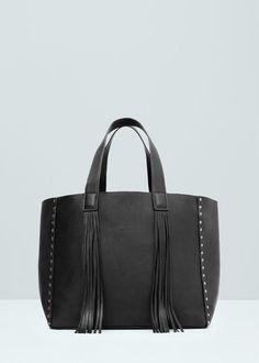 Fringed shopper bag - Bags for Women | MANGO