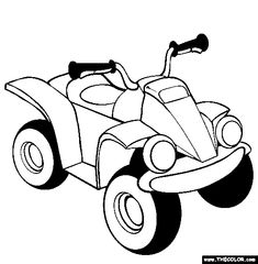 ATV Coloring Page | Free ATV Online Coloring