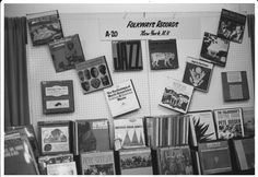 """A collection of Folkways records from an education convention in the 1970's. This picture was part of a recent gallery installation at the University of Alberta in Edmonton, Canada. The installation was entitled """"Seeing the World of Sound: The Cover Art of Folkways Records."""""""