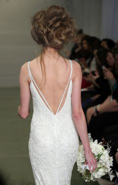 Boudoir hair at the Theia Bridal Spring 2016 show // Wedding Hair and Makeup Ideas From Bridal Fashion Week