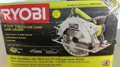 "Ryobi CSB144LZK 7-1/4"" 15 Amp circular saw with laser, Tools, Home 12272016.24 #Ryobi"