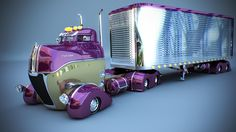 Truck created by Alain Boyer with LightWave 3D software.