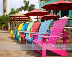 Colorful Fort Myers, FL Beach Chairs - Nervous Nellie's - Ate here on family vacation Fort Myers Beach Florida, Destin Florida, Florida Beaches, Captiva Island, Island Beach, Outdoor Fun, Outdoor Chairs, Life Is Beautiful, Beautiful Homes
