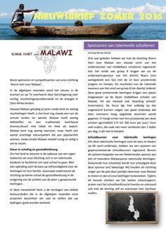 Warm hart voor Malawi Nieuwsbrief zomer 2016  Overzicht van onze…
