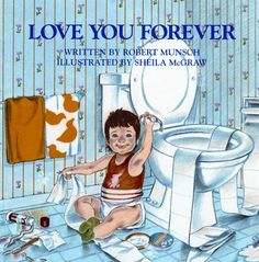 "This story is about a woman holding her newborn son and as she looks at him lovingly, she sings to him:  ""I'll love you forever, I'll like you for allways, As long as I'm living, My baby you'll be.""  Amazing book to read to your child..especially a son."