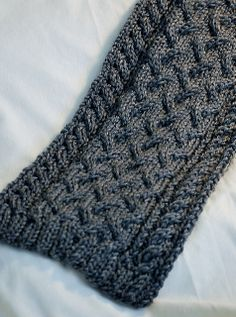 Ravelry: Wave & Twist Cable Scarf pattern by Deborah Lawless