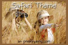 Safari Theme for Preschool -great printable books about safari & lions