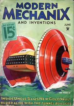 Modern Mechanix and inventions magazine | Retro futurismo | #Covers #Hobbies #30s #40s | http://defharo.com