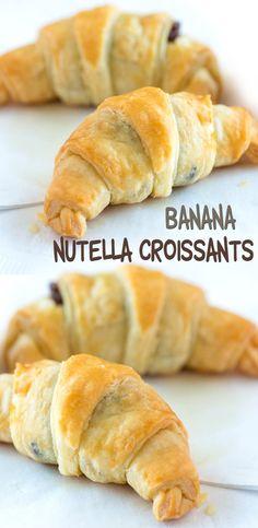 Banana Nutella Croissants