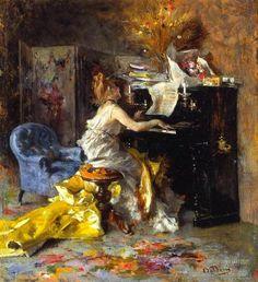 ♪ The Musical Arts ♪ music  musician paintings -  Giovanni Boldoni.