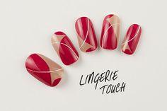 最旬モードなネイルアート-ランジェリー・タッチ編。|ネイル|VOGUE JAPAN Red Nails, Love Nails, Korea Nail Art, Diagonal Nails, Red Nail Designs, Japanese Nail Art, Autumn Nails, Nail Arts, Beauty Nails