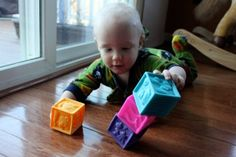 15 Activities to Play with Your 9-12 Month Old.  I tried three ideas at almost 10 months and she liked it!