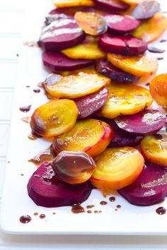 Balsamic Rainbow Roasted Beets | Back to Her Roots
