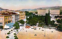 Αθήνα, πλατεία συντάγματος, 1900