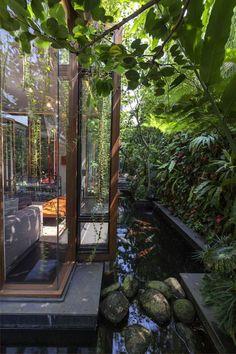 """Private residential project: """"Tan's Garden Villa"""" - Modern Earthship, Dream Home Design, Modern House Design, Permanent Vacation, Garden Villa, Lush Garden, Garden Pool, Balcony Garden, Tropical Houses"""