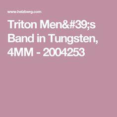 Triton Men's Band in Tungsten, 4MM - 2004253