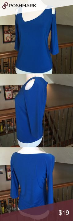 """Joseph Ribkoff (exclusive designer) Top A luxurious name in clothing..Joseph Ribkoff(look him up please!) Retails for $180. Luxurious Polyester/spandex. A stunning cut on this top. 13"""" from armpit to hem. Flawless! Mannequin Size Small 2-4. Joseph Ribkoff Tops Tunics"""