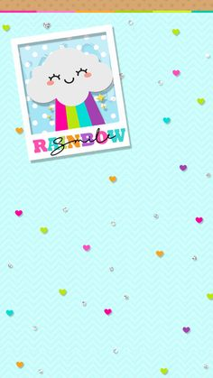 Love Rainbow, Rainbow Colors, Phone Wallpapers, Cute Wallpapers, App Background, Hello Kitty, Pastel Wallpaper, My Melody, Doraemon