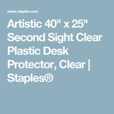 """Artistic 40"""" x 25"""" Second Sight Clear Plastic Desk Protector, Clear 
