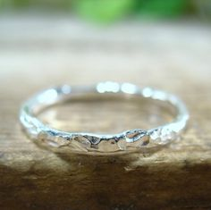 Ring Sterling Silver Chiseled by MysticMoons on Etsy, $13.00