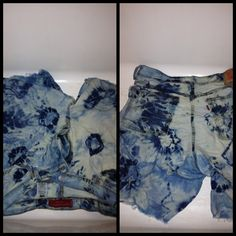 How to Create Tie-Dye Denim Shorts