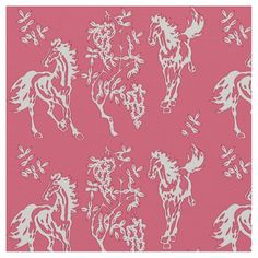 Horses in Pink and White Fabric