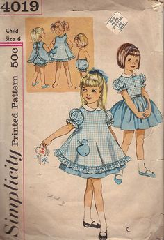 My mother made me clothes on her Singer sewing machine.  I sewed for my daughter.  Simplicity patterns were the most common.