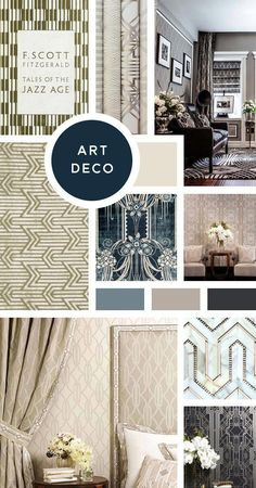 Your Ultimate Guide to Interior Design Styles: Art Deco- While not exactly the streamlined, un-ornamented look of the typical Modern style, Art Deco was a huge move in that direction. So if you like your streamlined, Modern style with a splash of speakeas Interior Design Courses, Luxury Interior Design, Luxury Home Decor, Modern Interior Design, Interior Design Magazine, Muebles Art Deco, Estilo Interior, Estilo Art Deco, Modern Art Deco