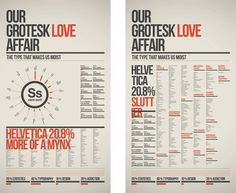 Helvetica. I love the color schemes and they demonstrate great usage of the grid system.