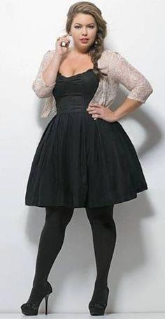 Plus Size Little Black Dress - DELARIZ
