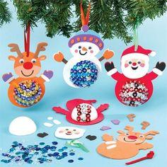 Sequin Christmas Character Decoration Kits #bemorefestive @Marisa Pennington Foster