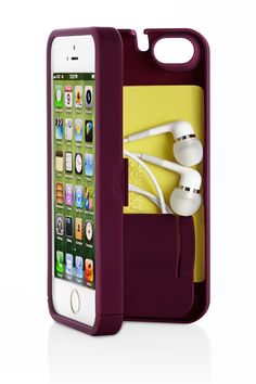 iPhone case with compartment for cards and earbuds--perfect for the gym