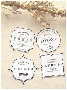 Vintage Labels #graphic_design #packaging_design