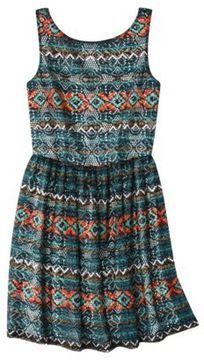 Xhilaration® Juniors Printed Lace Fit & Flare Dress - Assorted Colors on shopstyle.com
