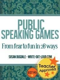 Public speaking games ebook: 28 fun speech games & activities for middle school to adult; complete with printable resources, and full how-to guides Public Speaking Activities, Speaking Games, Drama Activities, Public Speaking Tips, Speech Activities, Communication Activities, Icebreaker Activities, Drama Games, Health Activities